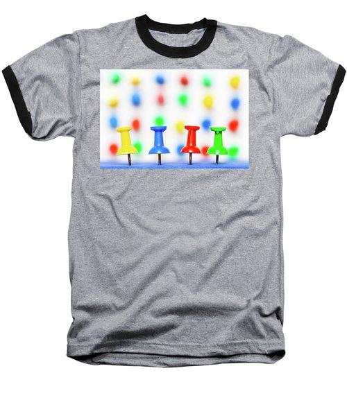 Colourful Pins. Baseball T-Shirt