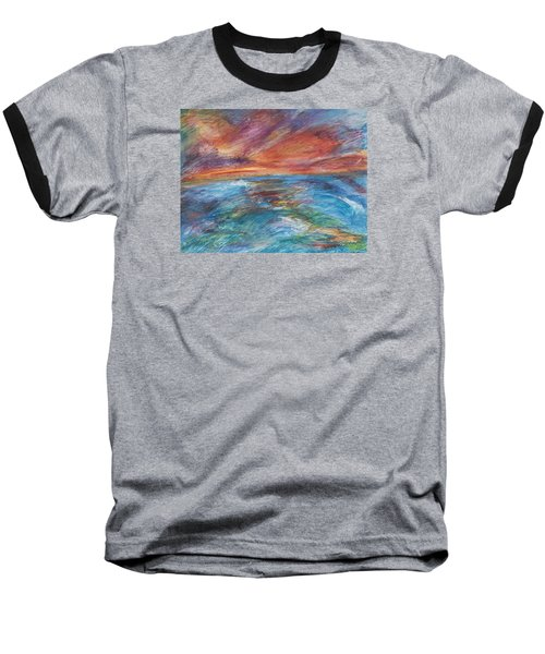 Colours Of The Sea 8 Baseball T-Shirt
