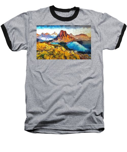 Columbia Lake Reverie Baseball T-Shirt by Mario Carini