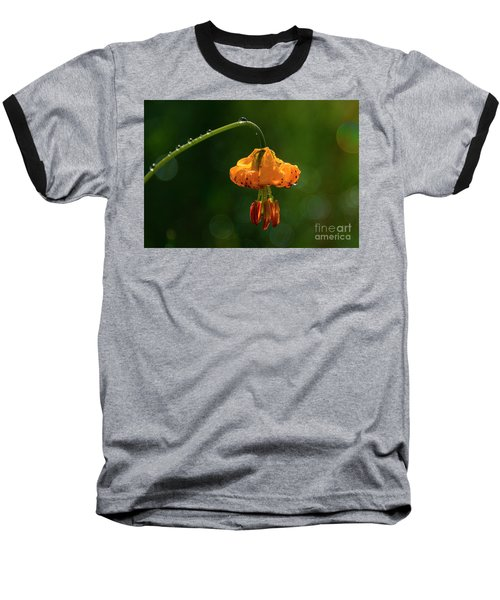 Columbia Lily With Dew Baseball T-Shirt
