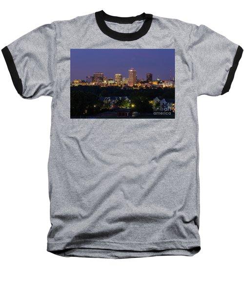 Columbia Skyline At Twilight Baseball T-Shirt