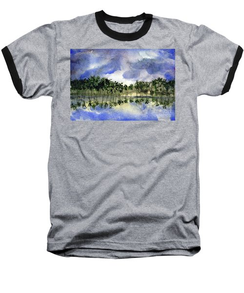 Columbian Shoreline Baseball T-Shirt by Randy Sprout