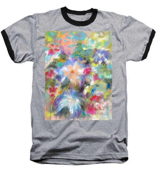 Columbine In The Wildflowers Baseball T-Shirt by Frances Marino