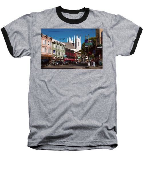 Columbus And Stockton In North Beach Baseball T-Shirt