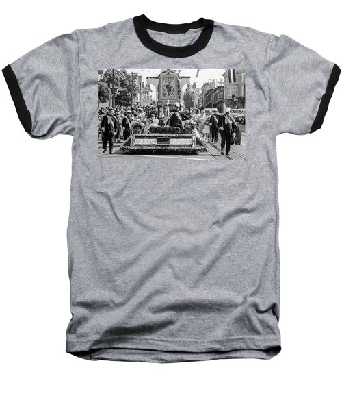 Baseball T-Shirt featuring the photograph Columbus Day Parade San Francisco by Frank DiMarco