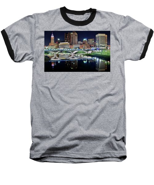 Columbus Over The Scioto Baseball T-Shirt by Frozen in Time Fine Art Photography