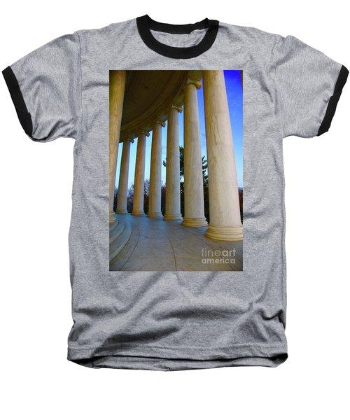 Columns At Jefferson Baseball T-Shirt by Megan Cohen