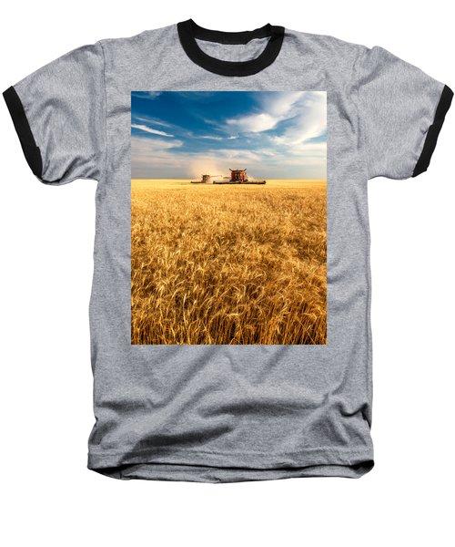 Combines Cutting Wheat Baseball T-Shirt