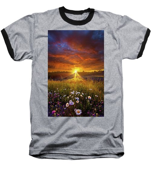 Baseball T-Shirt featuring the photograph Come Again Another Day by Phil Koch