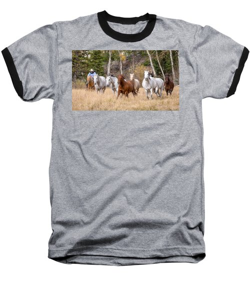 Come Running Baseball T-Shirt by Jack Bell