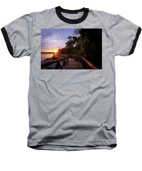 Come Walk With Me Baseball T-Shirt by Keith Boone