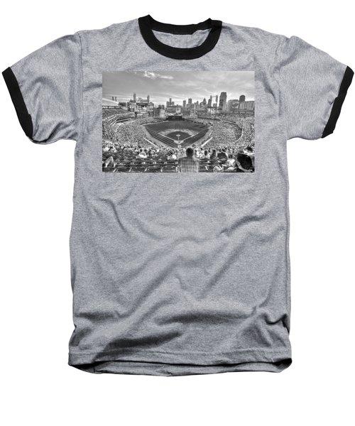 Comerica Park Baseball T-Shirt by Nicholas  Grunas