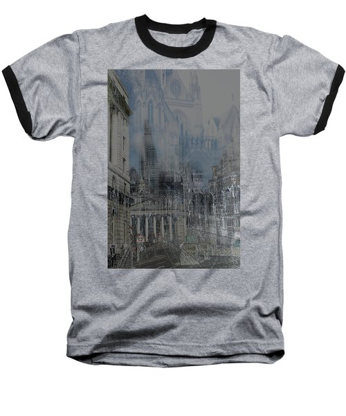 Comes The Night - City Deamscape Baseball T-Shirt