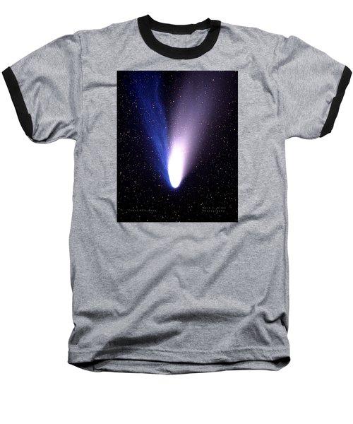 Comet Hale-bopp Baseball T-Shirt by Mark Allen