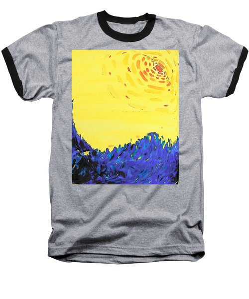 Baseball T-Shirt featuring the painting Comet by Lenore Senior