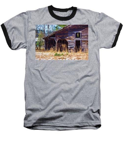 Coming Apart With Character Barn Baseball T-Shirt