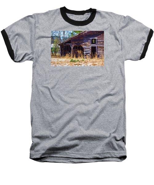 Coming Apart With Character Baseball T-Shirt by Roberta Byram