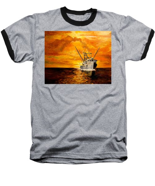 Baseball T-Shirt featuring the painting Coming Home by Alan Lakin