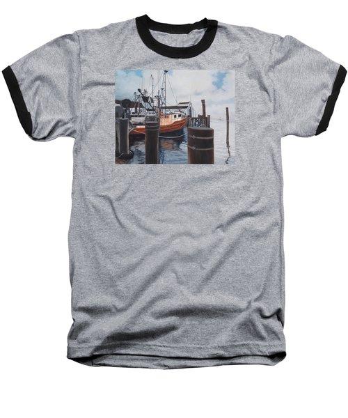 Coming Home Baseball T-Shirt by Barbara Barber