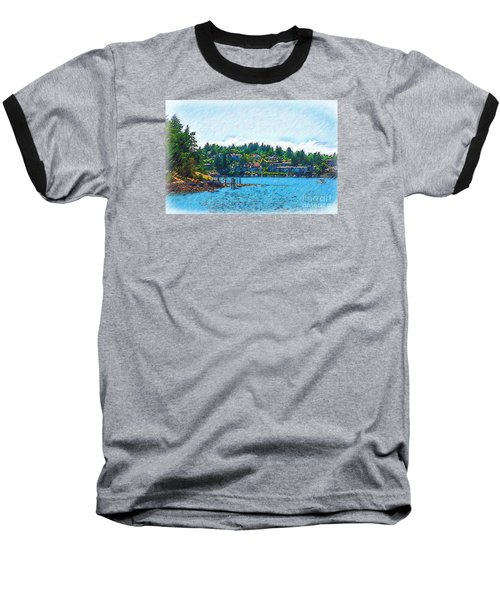 Baseball T-Shirt featuring the digital art Coming Into Friday Harbor by Kirt Tisdale