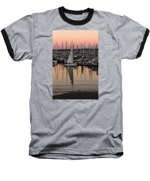 Coming Into The Harbor Baseball T-Shirt by Lora Lee Chapman