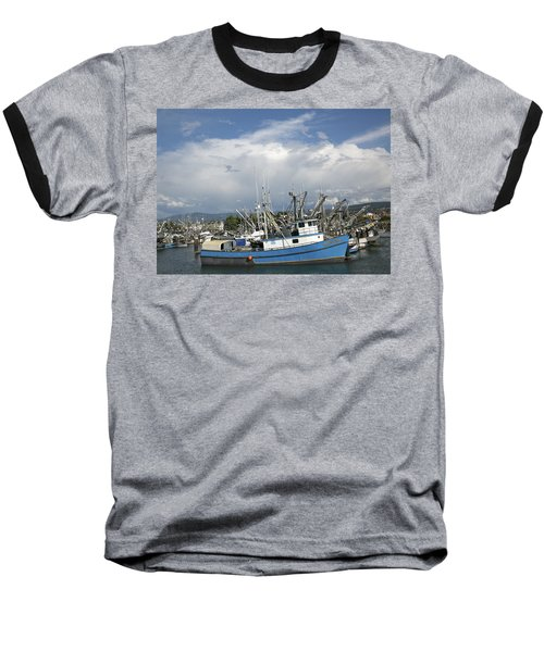 Baseball T-Shirt featuring the photograph Commerical Fishing Boats by Elvira Butler