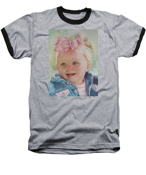 Commissioned Toddler Portrait Baseball T-Shirt