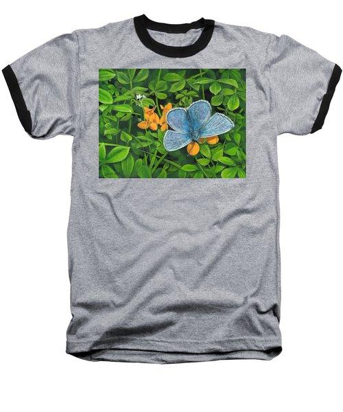 Common Blue On Bird's-foot Trefoil Baseball T-Shirt