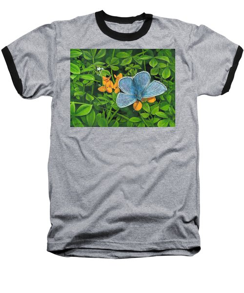 Common Blue On Bird's-foot Trefoil Baseball T-Shirt