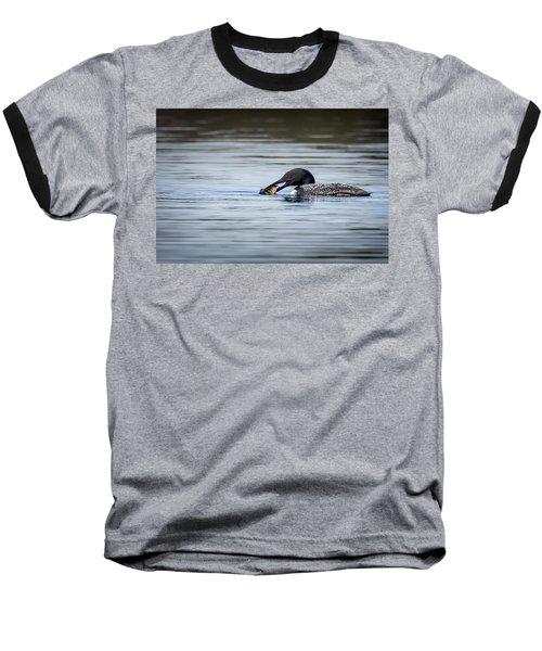 Common Loon Baseball T-Shirt by Bill Wakeley