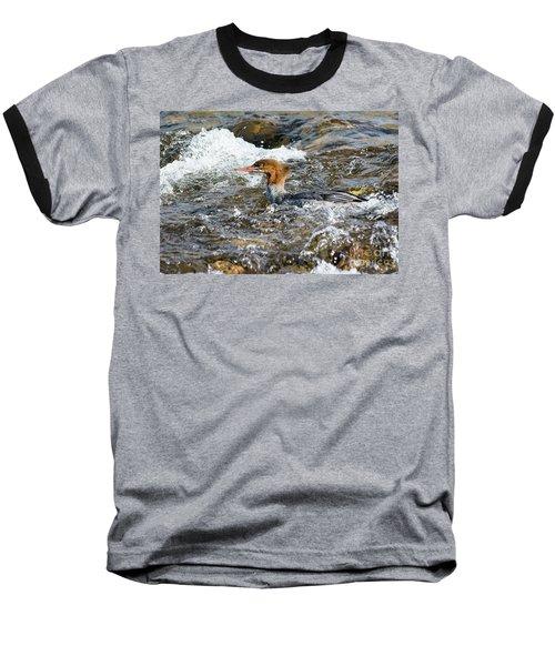 Common Merganser Baseball T-Shirt