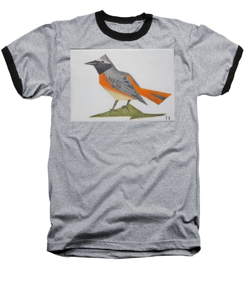 Common Redstart Baseball T-Shirt by Tamara Savchenko