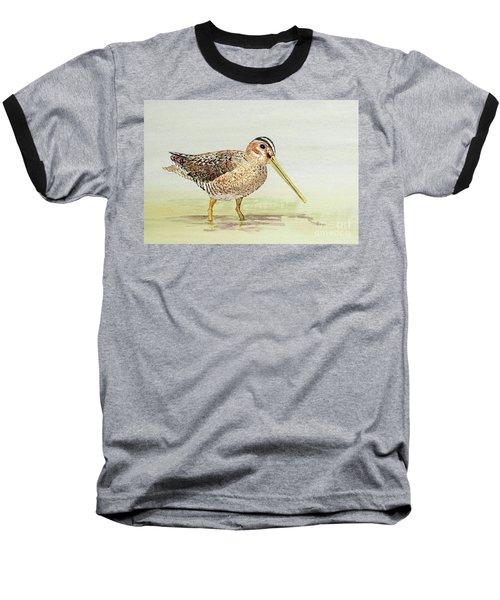 Common Snipe Wading Baseball T-Shirt