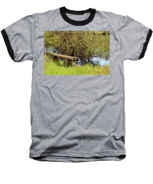 Baseball T-Shirt featuring the photograph Communing With Nature by Art Block Collections