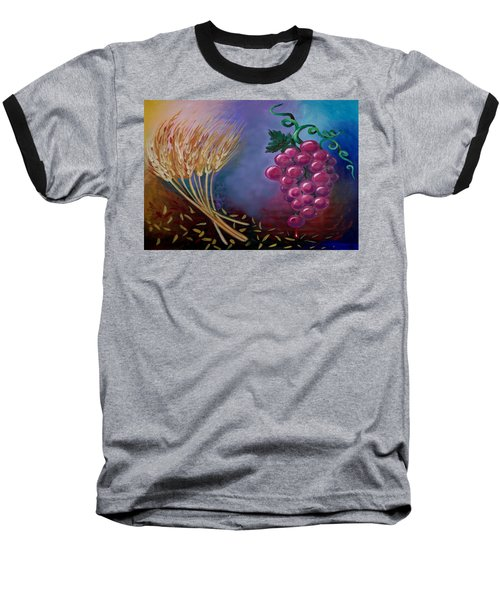 Baseball T-Shirt featuring the painting Communion by Kevin Middleton