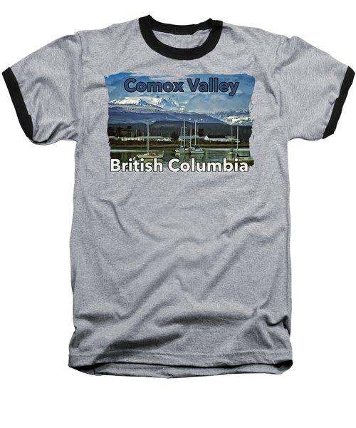 Comox Glacier Overlooking Comox Harbor Baseball T-Shirt