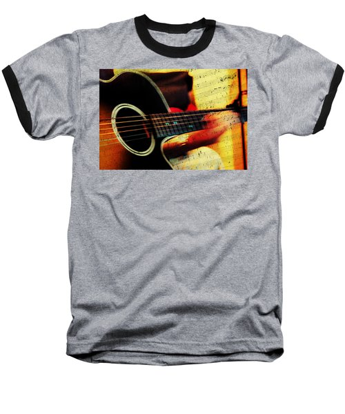 Composing Hallelujah. Music From The Heart  Baseball T-Shirt by Jenny Rainbow