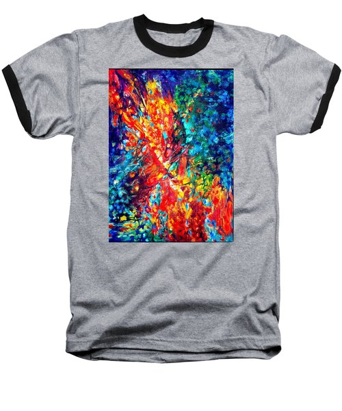 Composition #3. Abstract Sunsets.  Baseball T-Shirt by Helen Kagan
