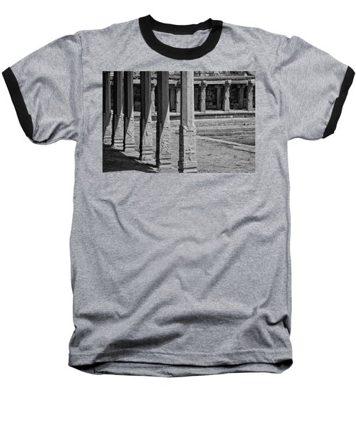 Composition Of Pillars, Hampi, 2017 Baseball T-Shirt by Hitendra SINKAR