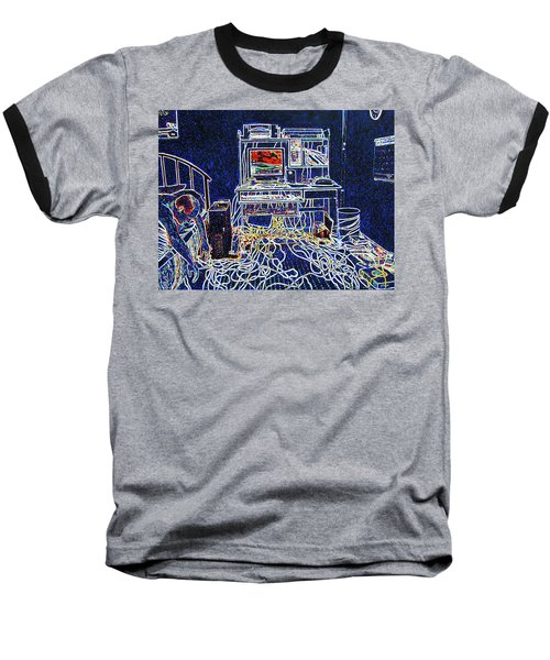 Computers And Wires Baseball T-Shirt