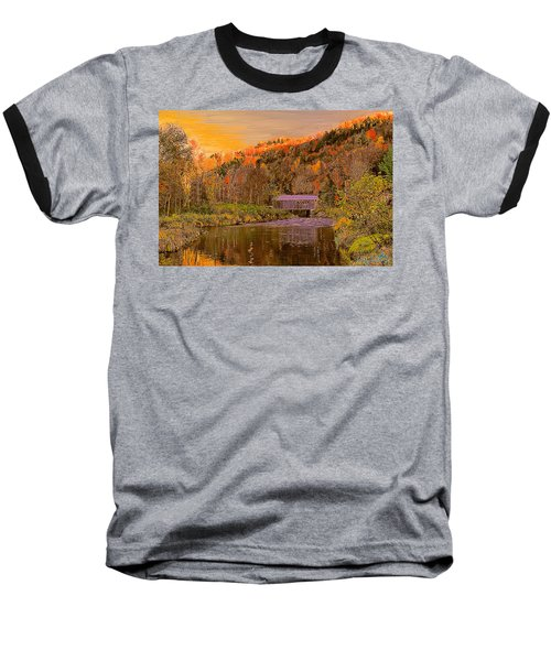 Comstock Bridge Baseball T-Shirt by John Selmer Sr