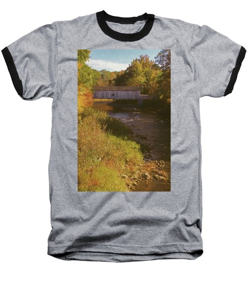 Comstock Covered Bridge Baseball T-Shirt