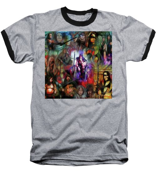 Conan The Barbarian Collage - Square Version Baseball T-Shirt
