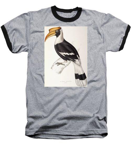 Concave Hornbill Baseball T-Shirt by John Gould