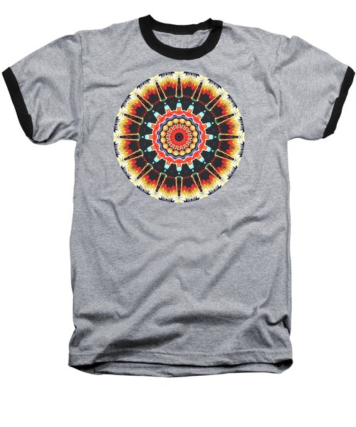 Concentric Balance Of Colors Baseball T-Shirt