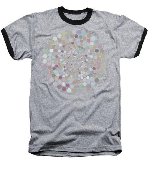 Vortex Circle - Gray Baseball T-Shirt