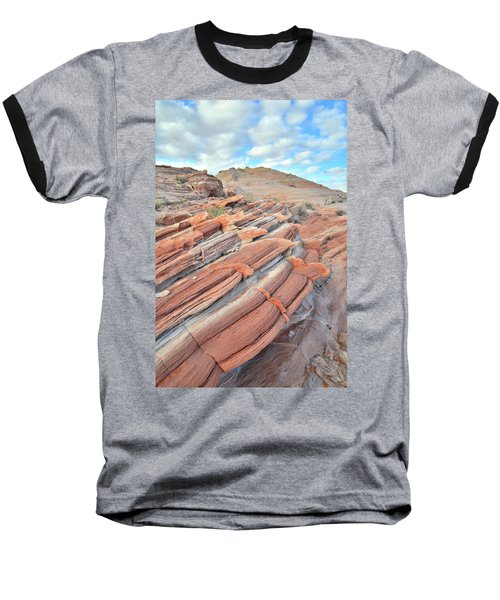 Concentric Circles Of Sandstone At Valley Of Fire Baseball T-Shirt by Ray Mathis