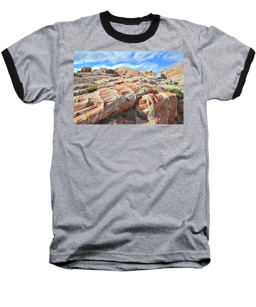 Concentric Color In Valley Of Fire Baseball T-Shirt by Ray Mathis