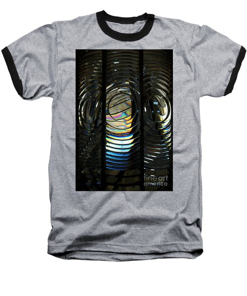 Concentric Glass Prisms - Water Color Baseball T-Shirt