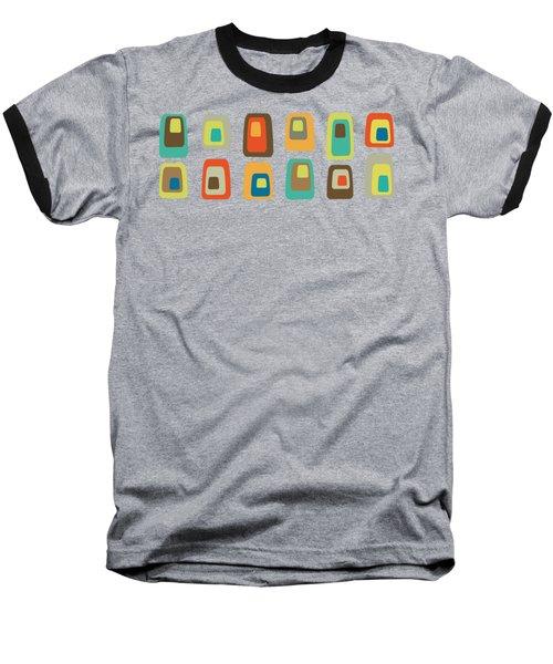 Concentric Oblongs Transparent Baseball T-Shirt